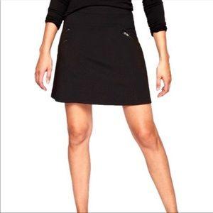 Athleta Black Ponte Moto Skirt Exposed Zippers S 2